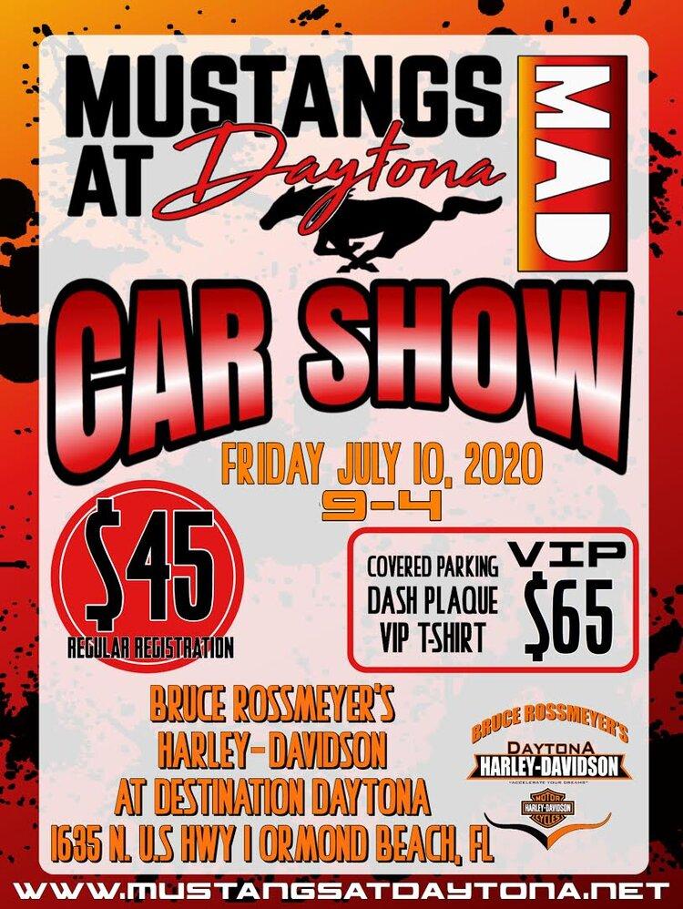 Mustangs at Daytona Car Show