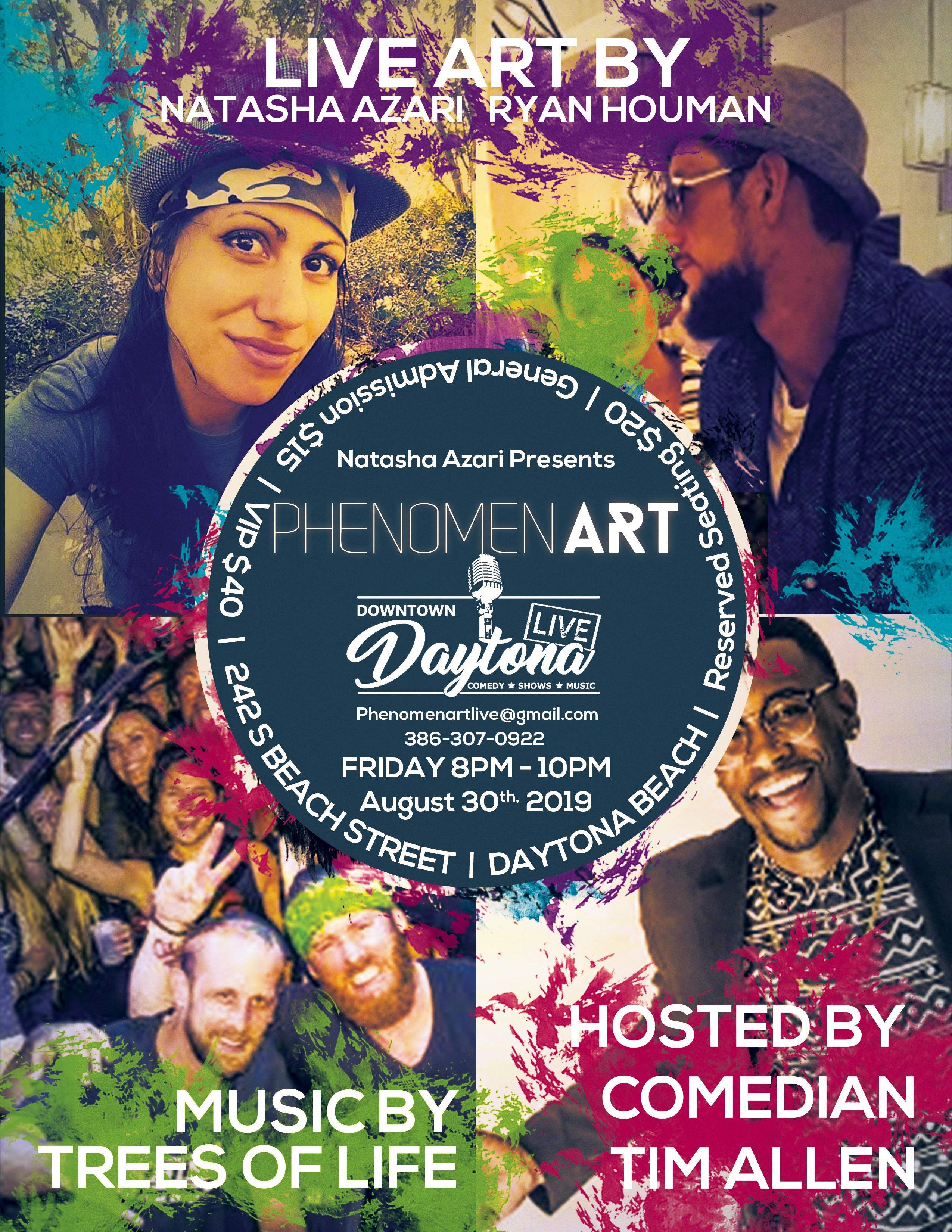 Flyer for new live artist showcase
